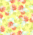 Floral seamless pattern with pink flowers