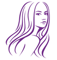 girl fashion hair vector image