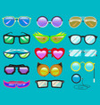 glasses cartoon eyeglasses or sunglasses in vector image