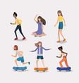group of women doing activities vector image vector image