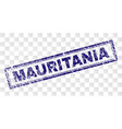 grunge mauritania rectangle stamp vector image vector image