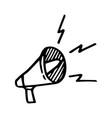 hand drawn doodle megaphone vector image