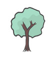 hand drawn tree icon color doodle vector image vector image