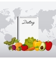 healthy food for dieting design vector image vector image