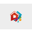House and Flower Icon symbol vector image vector image