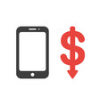 icon concept of smartphone with dollar symbol vector image
