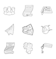 Idea icons set outline style vector image vector image
