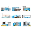 Industrial Factory Collection vector image vector image