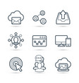 internet marketing and seo icon pack vector image vector image