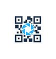 lens barcode logo icon design vector image vector image