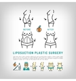 Liposuction Body Plastic Surgery thin line art vector image vector image