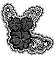 luxury single lace flower isolated on light vector image vector image