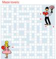 maze loving couple vector image vector image