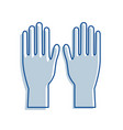 medical latex gloves to protection hands vector image vector image