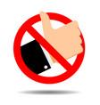no like symbol ban addiction social media vector image vector image