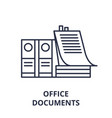 office documents line icon concept office vector image vector image