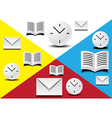office icons vector image vector image