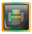print grey square icon with yellow and green vector image