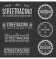 Retro Vintage Insignias or Logotypes set of vector image vector image
