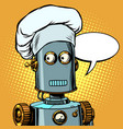 robot cook food takes orders at restaurant vector image