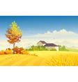Rural autumn vector image vector image