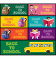School Banner Set Part 1 vector image