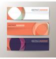 set modern design banners template vector image