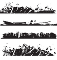 Set of ink black blots and splashes vector image