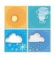 set of weather frames vector image