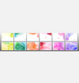 set rainbow watercolor background vector image vector image