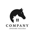 simple horse and house logo design vector image vector image