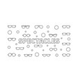spectacles horizontal linear vector image