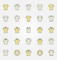 t-shirt colored icons set - tshirt creative vector image vector image