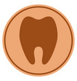 tooth bronze coin vector image vector image