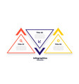 triangle shape three steps infographics template vector image