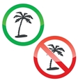 Vacation permission signs set vector image vector image