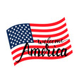 welcome america on american flag vector image vector image