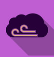 wind icon in flat style isolated on color vector image vector image