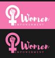 women empowerment vector image vector image