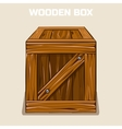 Wooden Box Cliparts game element vector image vector image