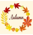 Autumn card With Leaves vector image