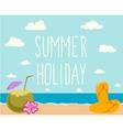 Retro elements for Summer calligraphic designs vector image