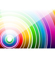 white rainbow vector image