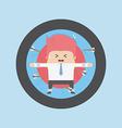 Businessman on archery targets Risk concept vector image