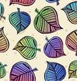 Summer pattern with color leaf nature background vector image