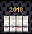 2018 calendar it can be used for web or print vector image