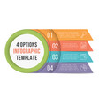 4 options infographics vector image vector image