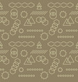 abstract mechanism funny shapes seamless pattern vector image
