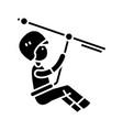 alpinist black icon concept vector image