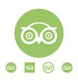 astana kazakhstan -10 july 2020 tripadvisor icon vector image